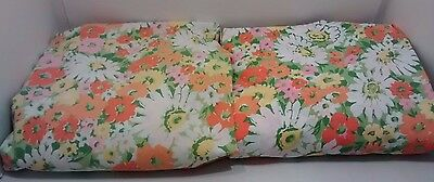 """Vintage Twin Fitted Bed 2X Floral Sheets Tex Made Truprest Luxury 39"""" x 75"""""""