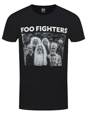 Official Foo Fighters - Old Band -  Men's Black T-Shirt