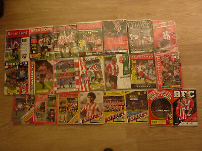 Brentford Home Programmes 1980/81 to 2008/09
