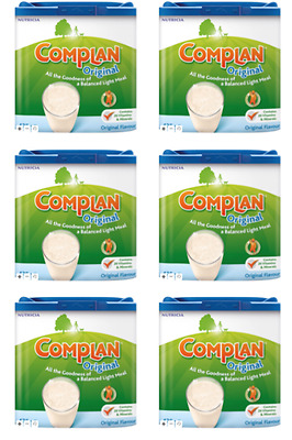 6 x Complan Nutritious Vitamin Rich Drink Original Flavour 425g 7-8 Servings