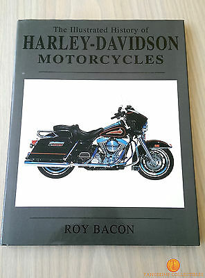 The Illustrated History of Harley-Davidson Motorcycles - Roy Bacon Hardback 1995