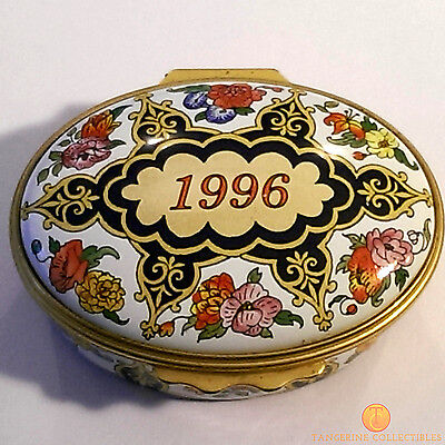 Halcyon Days Enamel Box 1996 A Year To Remember - Pill / Trinket Annual Edition