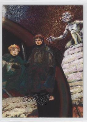 2006 Topps Lord of the Rings Masterpieces Etched-Foil #1 Frodo Golem Card 2h0