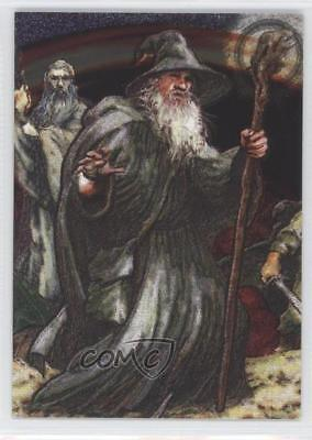 2006 Topps Lord of the Rings Masterpieces Etched-Foil #2 Gandalf Card 2h0