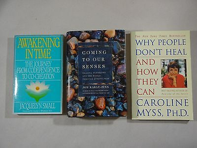 Lot: 3 Health and Healing Books Paperback, One Hardcover/DJ