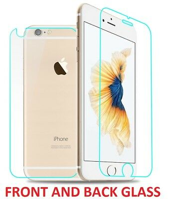 Front and Back Real Tempered glass screen protector film for iPhone 8 plus
