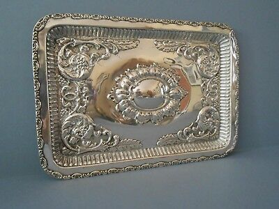 Antique Solid Silver Dressing Table Tray 1911
