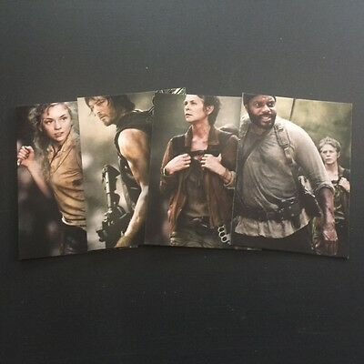 Cryptozoic 2016 WALKING DEAD Season 4 PART 1 Posters 4 Card Set