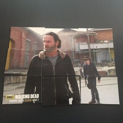 Cryptozoic 2016 WALKING DEAD Season 4 PART 1 TERMINUS 9 Card Puzzle Set