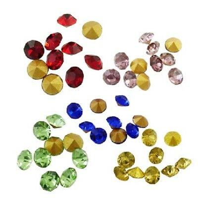 LOT de 100 Perles Strass Diamant Conique en VERRE Couleurs Mixtes 2mm Grade AAA