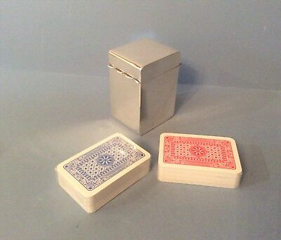 Solid Silver Miniature Playing Card Box/Case 1920
