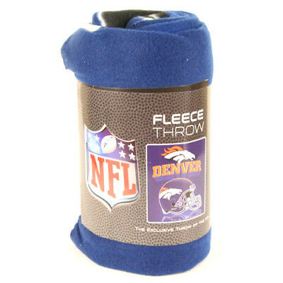 Denver Broncos Fleece Throw Blanket, Helmet Design
