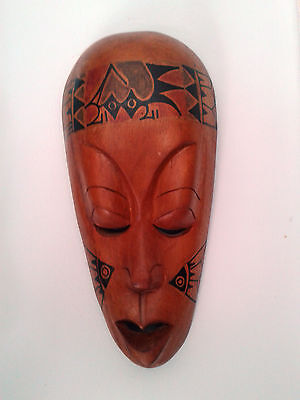 Hand Carved Wooden Face Mask