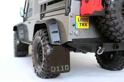D110 Mud Flaps Guards Front and Rear (4) for TRX-4 Traxxas by murat-rc
