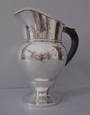 Antique Solid Silver Arts & Crafts Hammered Water Ewer/Jug
