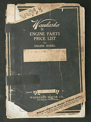 """Pair of Waukesha  Parts List Booklets Model XAD 3-1/2"""" x 4-1/2""""  10-4620A"""