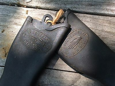 Advertising Vintage Salesman Sample Goodyear Rubber NY Miniature Boots