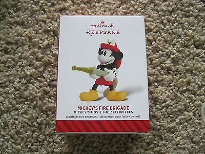 2014 Hallmark Ornament - Mickey's Fire Brigade - Mouseterpieces - Disney NIB 3rd