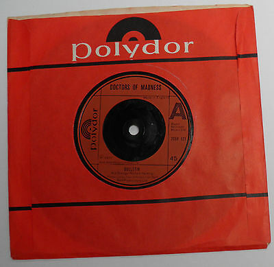 "Doctors of Madness-Bulletin-UK Red Polydor Vinyl 7""-70s KBD Punk Wave-1977-HEAR"