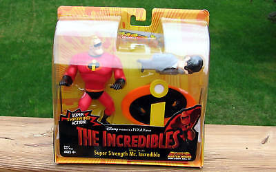 THE INCREDIBLES Super Strength MR INCREDIBLE Figure Toy ~ NEW  Mr Humph figure!
