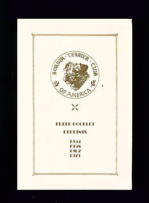 Dog Book Border Terrier Club of America 1954-1971 Breed Booklets Reprints