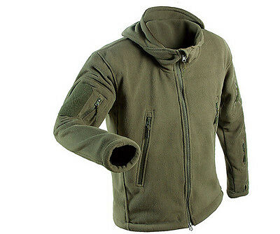 Men Hunting Outdoor Polar Fleece Military Army Softshell Tactical Hot Jacket