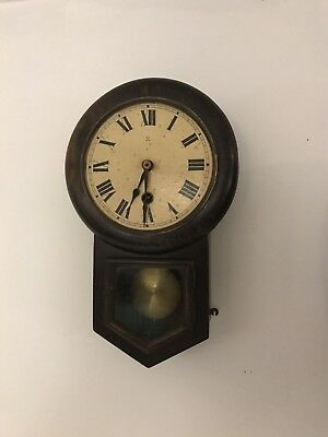 Unusually Small Edwardian Drop Dial Wall Clock. Open To Offers.