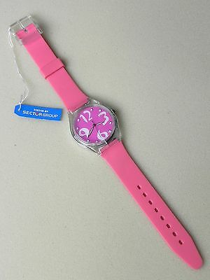 Lotto 10 Orologi da polso donna Tested by SECTOR Group Rosa gomma Gadget New