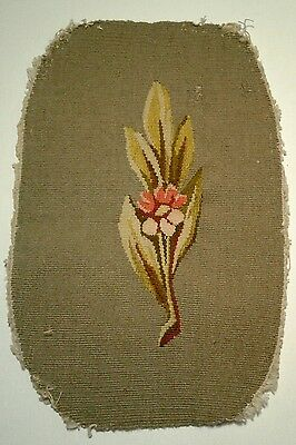 """Antique 19thC French Aubusson Tapestry Panel 11x7"""" from Paris Market FramePillow"""