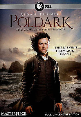 POLDARK The Complete First Season 1 DVD 2015 3-Disc Set PBS Free Shipping!