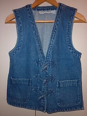 Vintage Unisex Denim Vest  Small Excellent Condition
