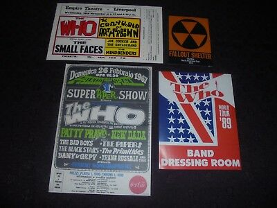 The Who Concert Flyers And Stickers Set