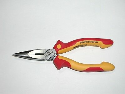 "Wiha 6.3"" Insulated Industrial Long Nose Pliers 32926"