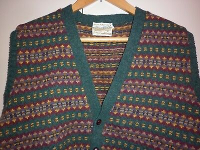 Vintage  Men's Scottish Wool Vest Size Large Good Condition