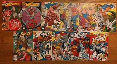 X-Force 1 2 3 4 5 6 7 8 9 10 Annual 1 VF FREE SHIPPING Deadpool