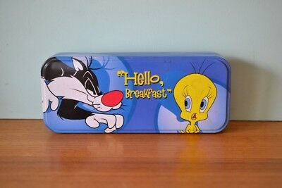 Vintage Sylvester and Tweety pencil case 1990s cartoon Playworks comic