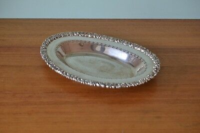 Vintage Hecworth Sheffield silver serving tray plate epns dish England