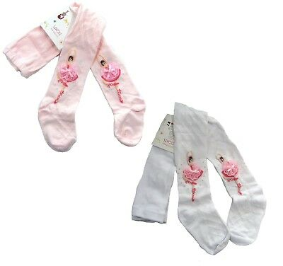 Girls Ballet Panties Tights Socks Pink White 2 Colors Ages 3 to 10