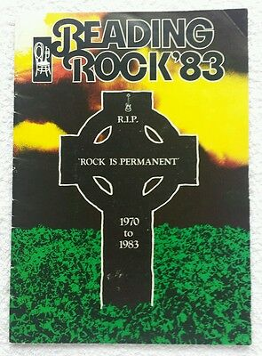 Reading Festival 1983 Programme Rare Black Sabbath Thin Lizzy Stranglers