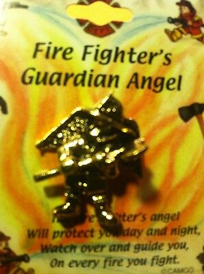 Fire Fighter's Guardian Angel Lapel Pin FREE SHIPPING U.S.A. Never Forget