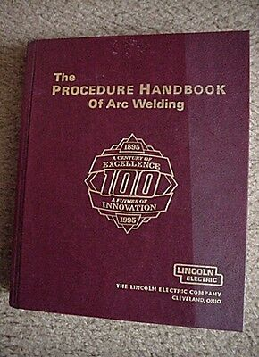 BOOK PROCEDURE HANDBOOK OF ARC WELDING by Lincoln Electric