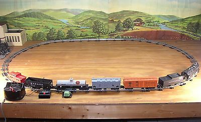EXCELLENT 1954-57 AMERICAN FLYER 303 TRAIN SET w/BURNISHED TRACK >RUNS STRONG