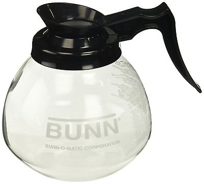12 cup 64 oz Glass Coffee Pot Decanter Drip Proof - Black