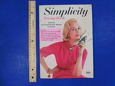 Simplicity Sewing Book Simplicity Unit System of Sewing 1958 Softcover