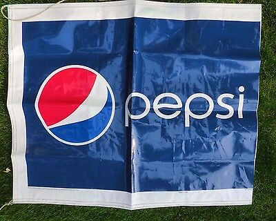 "Pepsi Cola Advertising Banner Sign 33x40"" USA"
