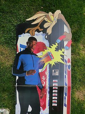 1996 Pepsi Cola Deion Sanders Store Display 71 Inches NO SHIPPING LOCAL PICKUP