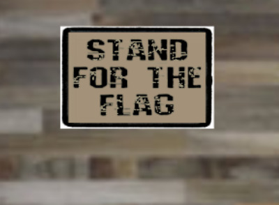 Stand For The Flag, Morale Patch, Tactical, Stand For The Flag and Anthem