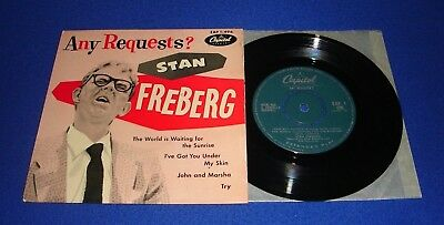 """stan freberg-any requests?-vinyl 4 track 7"""" ep-1950`s-comedy."""
