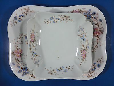 Platter and Large Serving Bowl 7446 Carlsbad Marx & Gutherz Austria 1885-88