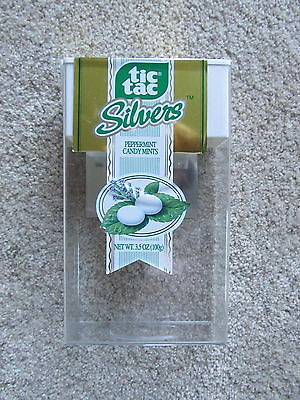 USED Large Tic Tac Silvers Container - 3.5oz Size - Empty - Ferrero Collectible